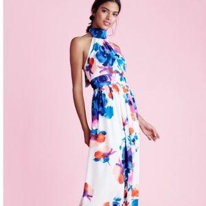 Eliza J Floral Print Halter Maxi Dress Size 2